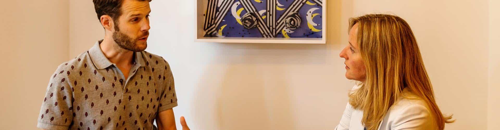 gesprek schilderij
