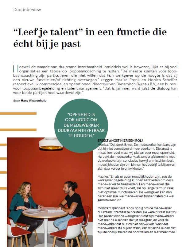Dynamisch Bureau in Clique Magazine
